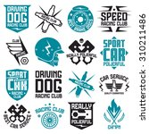vinyl stickers and badges on... | Shutterstock .eps vector #310211486