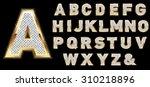 golden diamond shiny letters... | Shutterstock .eps vector #310218896