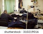 a sewing workshop   prisoners... | Shutterstock . vector #310219016