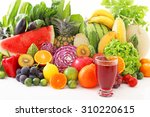 fresh fruits and vegetables | Shutterstock . vector #310220615