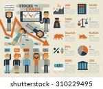 illustration of stocks market... | Shutterstock .eps vector #310229495