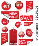 set of vector price tags | Shutterstock .eps vector #31024105