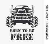 off road vehicle in black with... | Shutterstock .eps vector #310241282