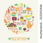 vector illustration of healthy... | Shutterstock .eps vector #310242446