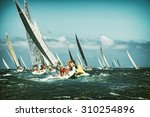Постер, плакат: Sailing yacht in the