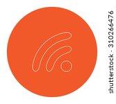 podcast. flat outline white... | Shutterstock .eps vector #310266476