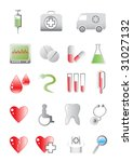 vector colored icons on the... | Shutterstock .eps vector #31027132