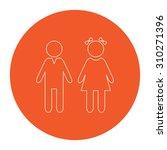 girl and boy. flat outline... | Shutterstock .eps vector #310271396