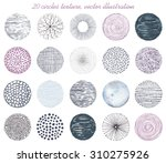 collection of twenty circles... | Shutterstock .eps vector #310275926