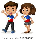 philippines boy and girl... | Shutterstock .eps vector #310278836
