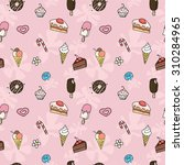seamless pattern of cute child... | Shutterstock .eps vector #310284965