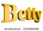 3d betty text on white... | Shutterstock . vector #310286348