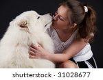 samoyed dog isolated on black... | Shutterstock . vector #31028677