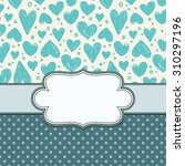 vector vintage frame with hearts | Shutterstock .eps vector #310297196