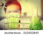 investigator checking test...   Shutterstock . vector #310302845