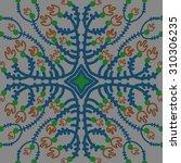 circular   pattern of floral... | Shutterstock .eps vector #310306235
