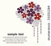 flower card design   Shutterstock .eps vector #31031284