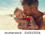 family fatherhood summertime... | Shutterstock . vector #310315526