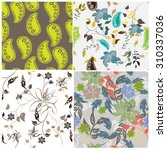 floral seamless pattern  ... | Shutterstock .eps vector #310337036