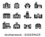 hospital icons set on white... | Shutterstock .eps vector #310339625
