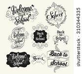 back to school labels....   Shutterstock . vector #310344335