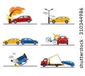 car accidents set on white... | Shutterstock .eps vector #310344986