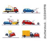 car accidents set on white... | Shutterstock .eps vector #310344998