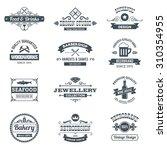 retro black logo emblems set...   Shutterstock . vector #310354955