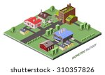 isometric factory concept with... | Shutterstock . vector #310357826