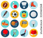 sport icons set with soccer... | Shutterstock . vector #310360268