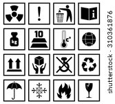packing symbols fragile... | Shutterstock . vector #310361876