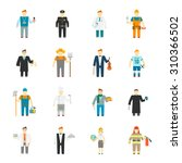 character icon flat profession... | Shutterstock . vector #310366502