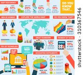 accounting infographics set... | Shutterstock . vector #310367546