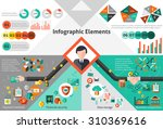 finance infographic set with... | Shutterstock . vector #310369616