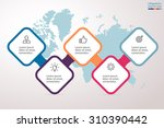 infographics step by step in a... | Shutterstock .eps vector #310390442