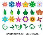 floral set with different kind... | Shutterstock .eps vector #3104026
