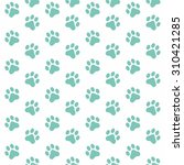 seamless pattern of animal paw... | Shutterstock .eps vector #310421285
