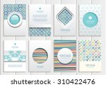 stock vector set of brochures... | Shutterstock .eps vector #310422476