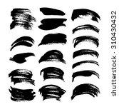black ink strokes big set on... | Shutterstock .eps vector #310430432