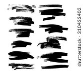 abstract ink strokes set on... | Shutterstock .eps vector #310433402