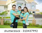 the asian family play together... | Shutterstock . vector #310437992