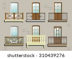 balconies. a set of different... | Shutterstock .eps vector #310439276