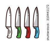 knife vector | Shutterstock .eps vector #310441172