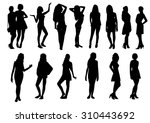 woman silhouettes | Shutterstock .eps vector #310443692