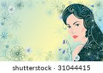 background with beautiful woman | Shutterstock .eps vector #31044415