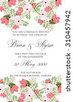 invitation or wedding card with ... | Shutterstock .eps vector #310457942