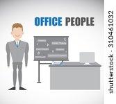 smart employment character and... | Shutterstock .eps vector #310461032