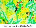 texture fabric vintage hawaiian ... | Shutterstock . vector #310466426