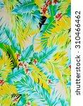 texture fabric vintage hawaiian ... | Shutterstock . vector #310466462