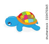 small turtle plush toy   Shutterstock .eps vector #310470365